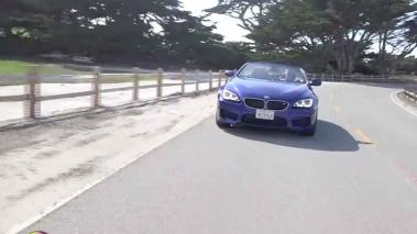 BMW M6 Convertible de paseo por 17 Drive en Pebble Beach