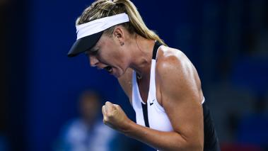 Sharapova se retira en su regreso a las pistas en Wuhan. Foto: Getty Images