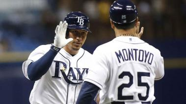 Asdrubal Cabrera #13 of the Tampa Bay Rays celebrates after hitting a two-run home run during the eighth inning of a game against the Miami Marlins on September 29, 2015 at Tropicana Field in St. Petersburg, Florida. Getty Images