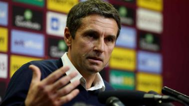 Aston Villa manager Remi Garde speaks during a press conference at Villa Park on November 5, 2015 in Birmingham, England. (Photo by Ben Hoskins/Getty Images)