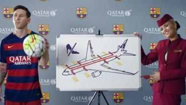 Los cracks del Barça protagonizan otro vídeo de Qatar Airways.