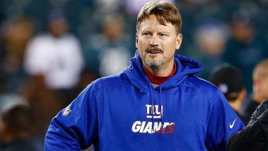Ben McAdoo offensive coordinator of the New York Giants speaks with head coach Chip Kelly of the Philadelphia Eagles prior to their game at Lincoln Financial Field on October 19, 2015 in Philadelphia, Pennsylvania. (Getty Images)