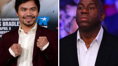 "Manny Pacquiao y ""Magic"" Johnson"