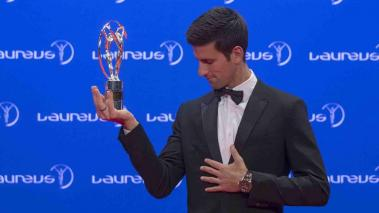 Novak Djokovic le ganó el Premio Laureus a Lionel Messi. Foto: Getty Images