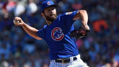 Jake Arrieta lanza el primer juego sin hit ni carrera de la temporada. Foto: Getty Images