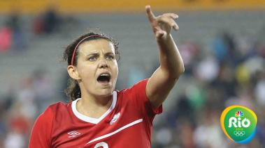 Christine Sinclair, experimentada capitana canadiense. Foto: Getty Images