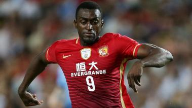 Jackson Martinez of Guangzhou Evergrande controls the ball during the AFC Champions League match between Sydney FC and Guangzhou Evergrande FC at Allianz Stadium on March 2, 2016 in Sydney, Australia.  (Photo Getty Images)