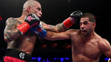 Sadaam Ali punches Miguel Cotto during their Junior Middleweight bout at Madison Square Garden on December 02, 2017 in New York City. (Getty Images)