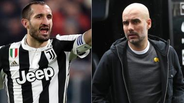 Chiellini y Guardiola