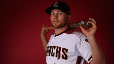 Brandon Drury #27 of the Arizona Diamondbacks poses for a portrait during photo day at Salt River Fields at Talking Stick on February 20, 2018 in Scottsdale, Arizona. (Getty Images)