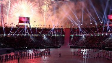 A general view of the Opening Ceremony of the PyeongChang 2018 Winter Olympic Games at PyeongChang Olympic Stadium on February 9, 2018 in Pyeongchang-gun, South Korea. (Getty Images)
