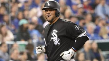 Welington Castillo #21 of the Chicago White Sox laughs as he approaches the dugout and realizes his teammates will be giving him the silent treatment in the dugout after hitting a solo home run in the fourth inning during MLB game. Getty Images