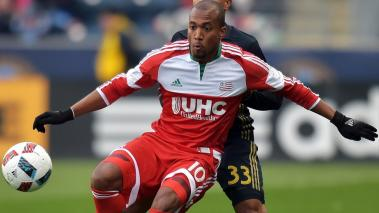 Teal Bunbury #10 of New England Revolution in Chester, Pennsylvania. (Photo by Drew Hallowell/Getty Images)