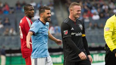 David Villa y Wayne Rooney. MLS