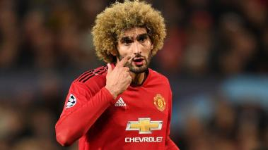 Marouane Fellaini of Manchester United reacts during the Group H match of the UEFA Champions League at Old Trafford on October 2, 2018 in Manchester, United Kingdom. (Getty Images)