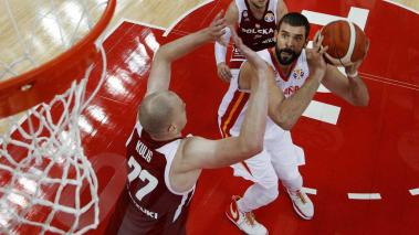Shanghai (China), 10/09/2019.- Marc Gasol of Spain in action during the FIBA Basketball World Cup 2019 quarter final? match between Spain and Poland in Shanghai, China, 10 September 2019. (Baloncesto, Polonia, España) EFE/EPA/ANDY WONG / POOL