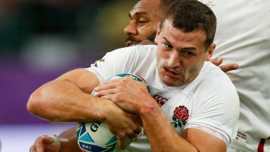Jonny May of England in action against Australia during the Rugby World Cup quarter-final match between England and Australia in Oita, Japan, 19 October 2019. (Japón) EFE/EPA/MARK R. CRISTINO. EFE
