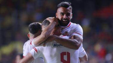 Emmanuel Gigliotti of Toluca celebrates after scoring the first goal of his team during the 1st round match between Morelia and Toluca as part of the Torneo Clausura 2020 Liga MX at Jose Maria Morelos Stadium on January 10, 2020 in Morelia, Mexico. Getty