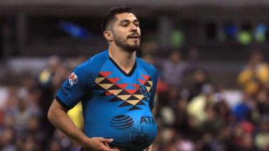 Henry Martin of America celebrates after scoring during the Mexican Clausura 2020 tournament football match between Tigres and America at Azteca Stadium in Mexico City, on January 18, 2020. (Getty Images)