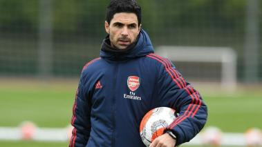 Arsenal Head Coach Mikel Arteta during a training session at London Colney on March 10, 2020 in St Albans, England. (Getty Images)
