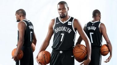 Kevin Durant #7 of the Brooklyn Nets poses for a portrait during media day on September 27, 2019 at the HSS Training Center in Brooklyn, New York. (Getty Images)