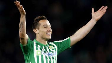 Andres Guardado of Real Betis Sevilla during the La Liga match against Real Mallorca at the Estadio Benito Villamarin on February 21, 2020 in Sevilla Spain (Getty Images)