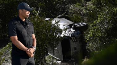 Tiger Woods sufrió un accidente automovilístico. (Fotos: AFP)