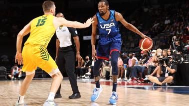 Kevin Durant with TEAM USA