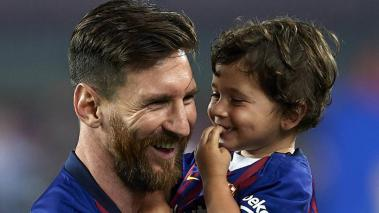 Lionel y Mateo Messi. (Getty Images)