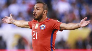 Marcelo Diaz of Chile reacts during the championship match between Argentina and Chile at MetLife Stadium as part of Copa America Centenario US 2016 on June 26, 2016 in East Rutherford, New Jersey, US. (Photo by Hector Vivas/LatinContent/Getty Images)