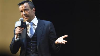 Portuguese football agent Jorge Mendes attends Gestifute and FOYO strategic partnership press conference at Shangri-La Hotel on January 18, 2016 in Shanghai, China. (Getty Images)
