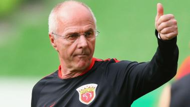 Sven-Göran Eriksson, manager of Shanghai. Getty Images