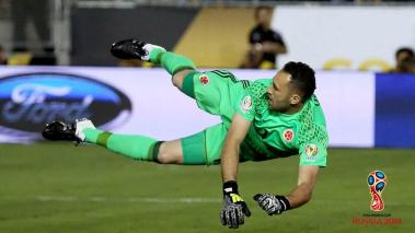 David Ospina #1 of Colombia dives to make a save during the 2016 Copa America Centenario Group A match between Colombia and Paraguay at Rose Bowl on June 7, 2016 in Pasadena, California. (Photo by Sean M. Haffey/Getty Images)