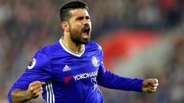 Diego Costa of Chelsea celebrates scoring hiduring the Premier League match between Southampton and Chelsea at St Mary's Stadium on October 30, 2016 in Southampton, England. (Getty Images)