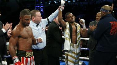 Errol Spence Jr. venció a Kell Brook. Foto: REUTERS