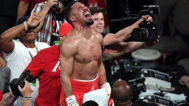 Andre Ward celebrates after his light heavyweight championship bout against Sergey Kovalev at the Mandalay Bay Events Center on June 17, 2017 in Las Vegas, Nevada. Ward retained his title with a TKO in the eighth round. Getty Images