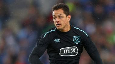 Javier Hernandez of West Ham United in action during a Pre Season Friendly between Manchester City and West Ham United at the Laugardalsvollur stadium on August 4, 2017 in Reykjavik, Iceland. (Getty Images)