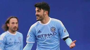 David Villa #7 of New York City FC during a game of the New York City FC at Yankee Stadium on March 15, 2015 in the Bronx borough of New York City. (Photo by Elsa/Getty Images)