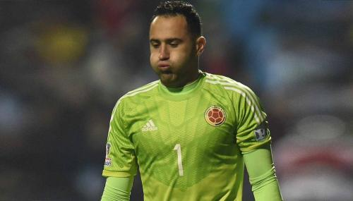 Colombia's goalkeeper David Ospina reacts after losing to Argentina in their 2015 Copa America football championship quarterfinal match in Vina del Mar, Chile on June 26, 2015. Argentina won 5-4 in penalty shootout. (AFP/Getty Images)