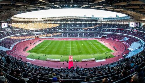 View of National Stadium during the 99th Emperor's Cup final between Vissel Kobe and Kashima Antlers at the National Stadium on January 01, 2020 in Tokyo, Japan. (Getty Images)