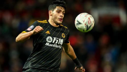 Raul Jimenez of Wolverhampton during the FA Cup Third Round Replay match between Manchester United and Wolverhampton Wanderers at Old Trafford on January 15, 2020 in Manchester, England. (Getty Images)