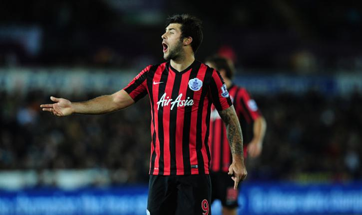 QPR player Charlie Austin reacts during the Barclays Premier League match between Swansea City and Queens Park Rangers at Liberty Stadium on December 2, 2014 in Swansea, Wales. (Getty Images)