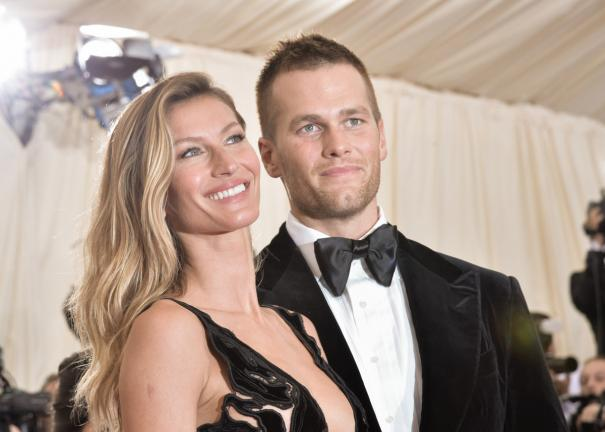 Gisele Bundchen junto a su esposo Tom Brady. Foto: Getty Images.