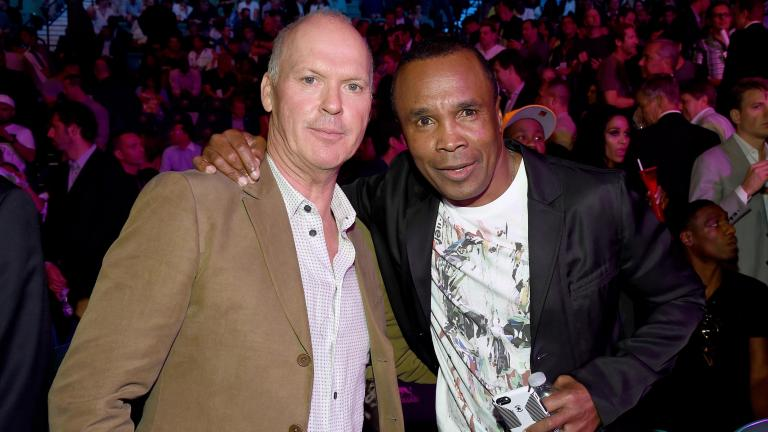 Actor Don Cheadle y Sugar Ray Leonard, MGM Grand Garden Arena, Las Vegas, Nevada. (Photo by Ethan Miller/Getty Images for SHOWTIME)