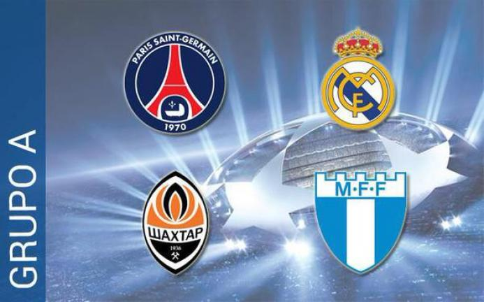 <b>Grupo A.-</b>Paris Saint-Germain, Real Madrid, Shakhtar Donetsk, Malmö FF.<p>Foto: Getty</p>