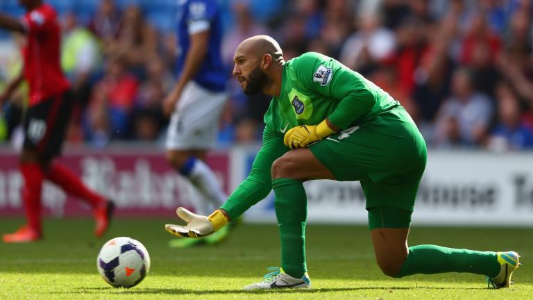 <b>Tim Howard</b>.- Su récord es de 130 partidos sin recibir gol. <p>Foto: Getty</p>