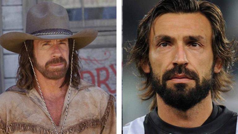 <b>Andrea Pirlo y Chuck Norris</b> <p><p> Foto: GettyImages/Twitter