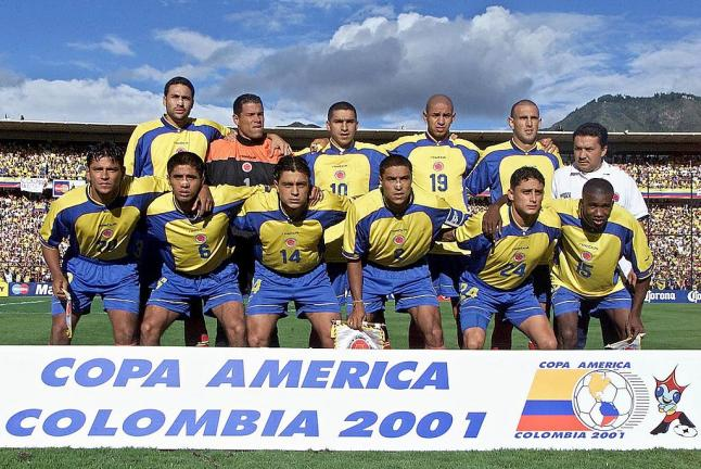 Copa América Colombia 2001: Colombia. Foto: Getty Images.