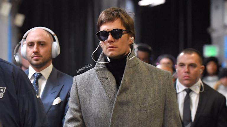 Tom Brady, a su llegada al estadio U.S. Bank Stadium, Minneapolis, Minnesota para disputar el Super Bowl LII.