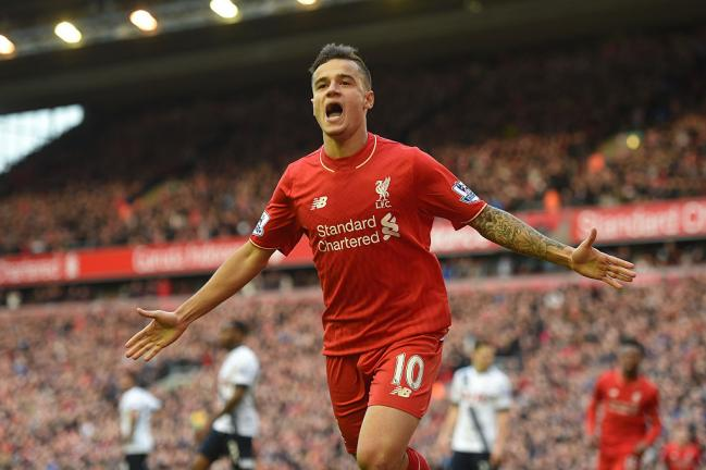 <strong>Liverpool - Philippe Coutinho:</strong> 186.926 dólares/semana. Foto: Getty